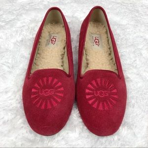 New UGG | Alloway Red Suede Loafers